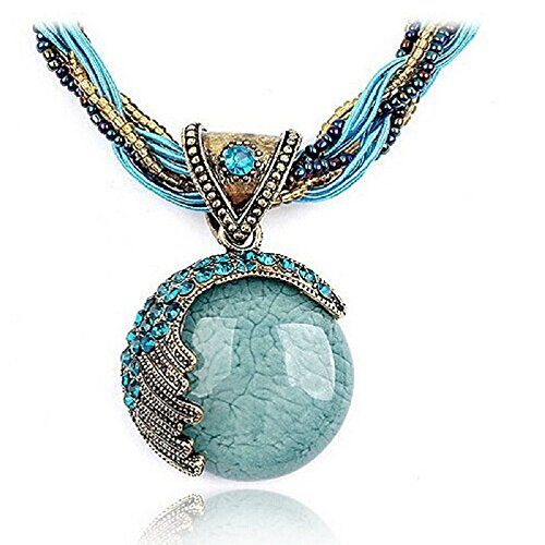 Doinshop 2016 New Hot Fashion Bohemian Jewelry Statement Necklaces Women Rhinestone Gem Pendant Collar