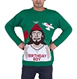 Mens-Adults-Novelty-Naked-Santa-Merry-Christmas-Knitted-Jumper-Sweater