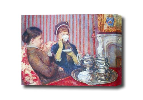 A Cup Of Tea #2 By Cassatt Canvas Art Print, 16 X 12 Ready To Hang