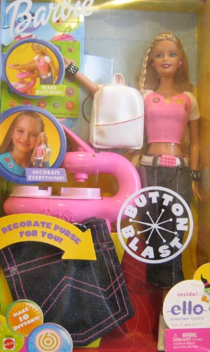 Barbie 2002 – Button Blast Barbie – mit Button-Maschine – OVP günstig kaufen