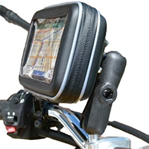 "5"" Screen Waterproof GPS SatNav Motorcycle M8 Extended Handlebar Mount"