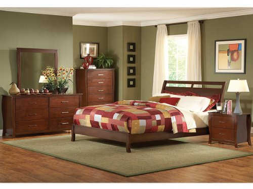Rivera 5 Pc California King Bedroom Set With Chest By Homelegance In Brown Cherry