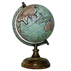 EnticeSelectionsMedium Rotating Desktop Globe World Earth Ocean Table Decor Geography 8 Inch