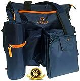 #1 Diaper Bag by Auben - Stroller Organizer - Baby Bag - BONUS Changing Mat & Bottle Bag (Blue)