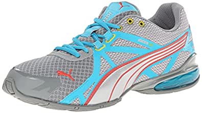 PUMA Women's Voltaic 5 Cross-Training Shoe,Limestone Gray/Scuba Blue/Dubarry/Sulphur Spring,5.5 B US