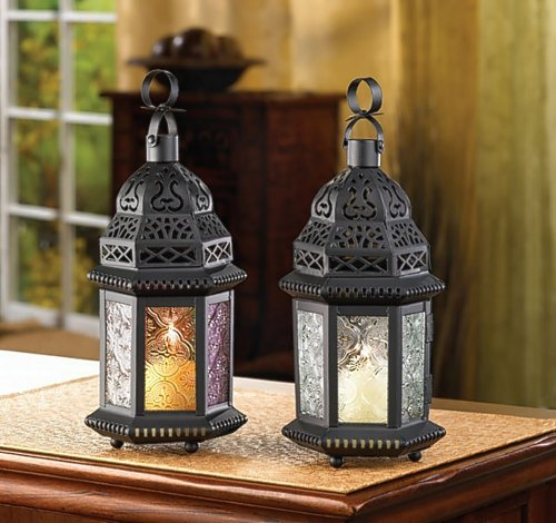 20 FABLED FAR EAST CLEAR GLASS MOROCCAN CANDLE LANTERN WEDDING CENTERPIECES