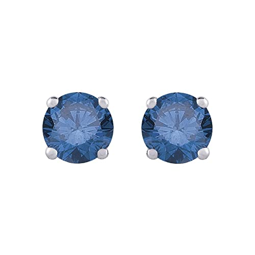 1-2-ct-Blue-I1-Round-Brilliant-Cut-Diamond-Earring-Studs-in-14K-White-Gold