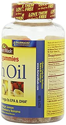 Nature Made Fish Oil Adult Gummies, 360 Count Pack