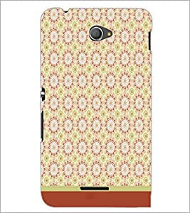 PrintDhaba Pattern D-1617 Back Case Cover for SONY XPERIA E4 (Multi-Coloured)