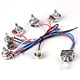 Ascendas Electric Guitar Wiring Harness Kit 2V2T Pot Jack 3 Way Toggle Switch for Gibson Les Paul LP Parts