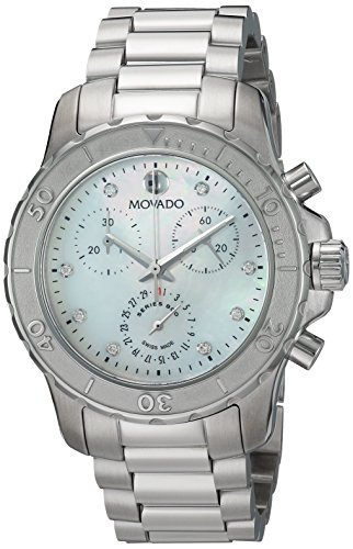 Movado Women's Swiss Quartz Stainless Steel Casual Watch, Color:Silver-Toned (Model: 2600128)