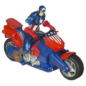 Amazon.com: Marvel Captain America Zoom N Go Motorcycle: Toys & Games