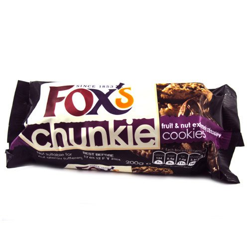 Fox's Chunkie Fruit & Nut Extremely Chocolatey Cookies 200g