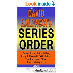 David Baldacci Series Reading Order: King & Maxwell series, Camel Club series, Will Robie series