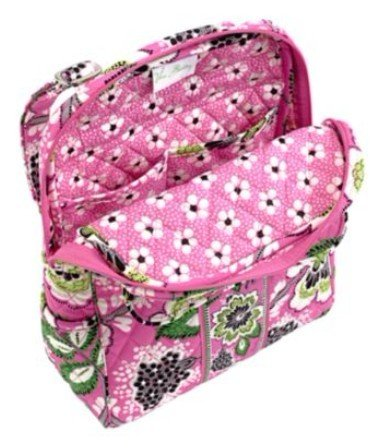 5be1c2c3ed Vera Bradley Backpack in Priscilla Pink - ToyZonkers.com - Miles of Toys