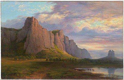 art-prints-on-canvas-16-x-10-inch-mount-arapiles-and-the-mitre-rock-nicholas-chevalier-ac-201513239-