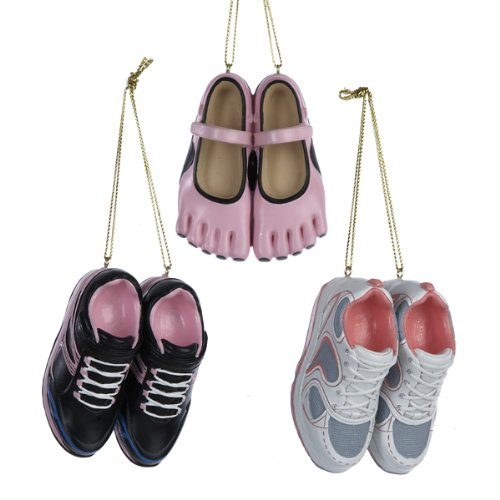 Kurt Adler Pair OF Fitness Sneakers Ornament Set OF 3