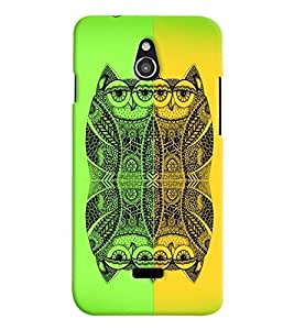 PrintVisa Birds Modern Art Owl 3D Hard Polycarbonate Designer Back Case Cover for Infocus M2