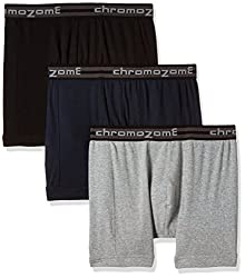 Chromozome Men's Cotton Trunk (Pack of 3) (8902733346719_TC 02_X-Large_Black, Navy and Grey)