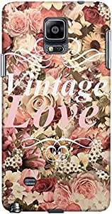 DailyObjects Vintage Love Flowers Case For Samsung Galaxy Note 4