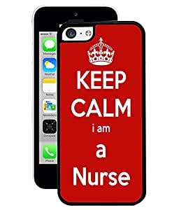 Fuson 2D Printed Nurse Wallpaper Designer Back Case Cover for Apple iPhone 5C - D679