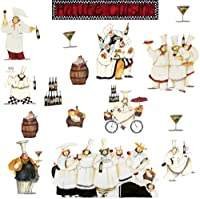 RoomMates RMK1255SCS Chefs Peel & Stick Wall Decals from RoomMates