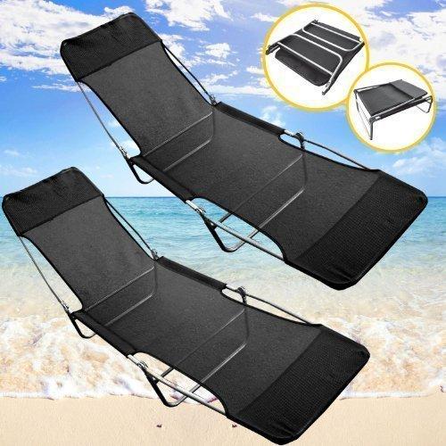 2-x-beautiful-outdoor-folding-textoline-garden-sun-lounger-recliner-chair-black