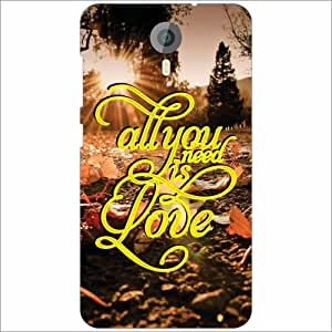 Micromax Canvas Xpress 2 E313 Back Cover - Silicon All You Need Is Love Designer Cases