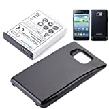 Mbuynow® 4800mAh Samsung Galaxy S2 Replacement Battery+Black Back Cover for i9100 GT-I9100