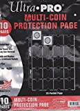 Ultra Pro 20 Pocket (coin) Pages (10 pages)