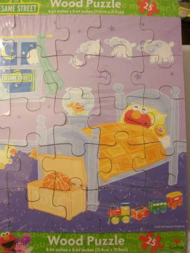 Sesame Street Wooden Puzzle (25 Pieces) ~ Nighty Night Elmo - 1