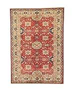 Eden Carpets Alfombra Kazak Super Rojo/Beige/Azul 200 x 142 cm