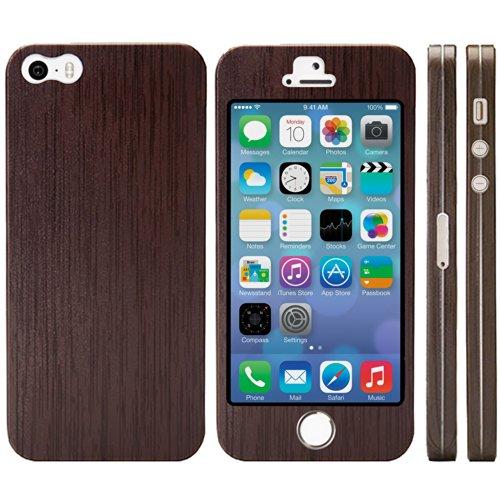 NanoSkin ナノスキン iPhone5s/5 フルカバーケース全17色 ウッド (TouchID対応)