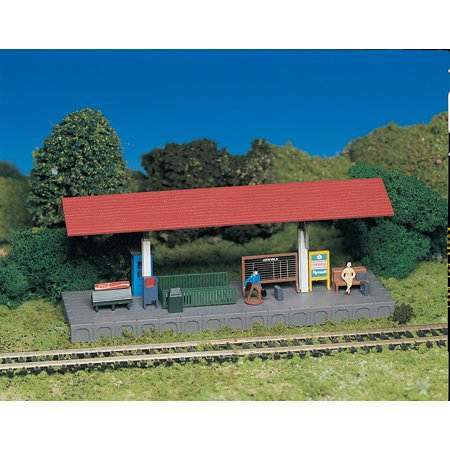 Platform Station Plasticville Building Kit HO Scale