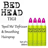 'Spoil Me' Hair Defrizzer and Smoothing Hairspray *Set Of 4* by TIGI Bed Head.