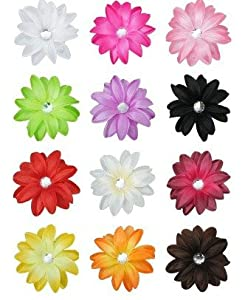 """12 Large 5"""" Tropical Lily Silk Flowers Artificial Lilies Dozen Flowerheads Assorted Lilly Colors"""