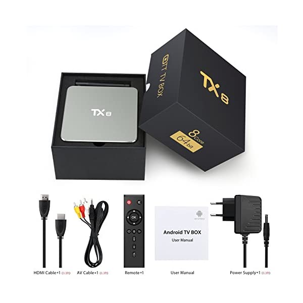 Bqeel-Android-TV-Box-TX8-Amlogic-S912-Octa-Core-2-GB-ROM-32-GB-Android-60-KODI-161-TV-BOX-4K-WiFi-H265-DLNA-Miracast-HD-Bluetooth-BT-41-Mdia-Player