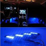 docooler 4*3 LED 12V Car Auto Interior Atmosphere Lights Decoration Lamp Blue