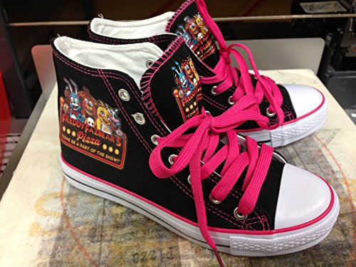 Red Cheeks Shoes FNAF Fan PINK Chuck Talyor Style Kids and Womens Only
