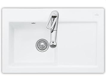 Villeroy & Boch Subway 45 Weiß (alpin) Spulbecken Auflagespule Keramik-Spule