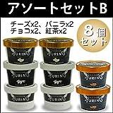 高級アイス プレミアムアイス アウリーノ アソートセットB 8個入り (チーズ2、バニラ2、チョコ2、紅茶2)