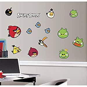 RoomMates RMK1794SCS Angry Birds Peel and Stick Wall Decals - Wall Decor Stickers - Amazon.com