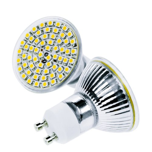 3,6W 60SMDs(3528) GU10 LED Lampe Light Leuchtmittel Strahler Cup warmweiss 350Lumen