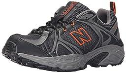 New Balance Men\'s Mt481v2 Trail Runner, Black/Orange, 10 4E US