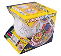 Baden Color Your Own Soccer Ball, White, Size 4