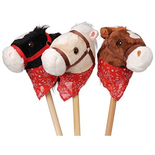 Gift Corral Plush Stick Horses with Bandanna - 1