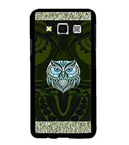 Fuson Premium Artistic Owl Metal Printed with Hard Plastic Back Case Cover for Samsung Galaxy A3