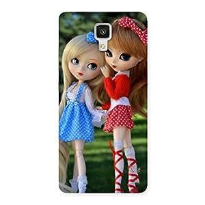 Stylish Sister Doll Multicolor Back Case Cover for Xiaomi Mi 4