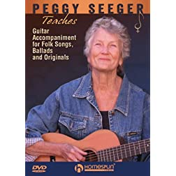 Peggy Seeger Teaches Guitar Accompaniment for Folk Songs, Ballads and Originals
