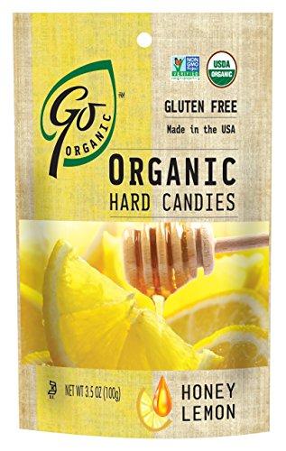 GoOrganic Honey Lemon Hard Candies - 3.5-Ounce Bags (Pack of 6)